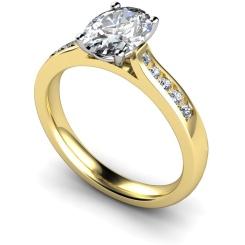 HRXSD654 Oval Shoulder Diamond Ring - yellow