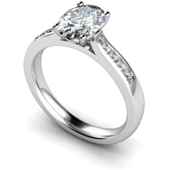 HRXSD654 Oval Shoulder Diamond Ring - white