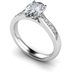 HRXSD654 Oval Shoulder Diamond Ring - white