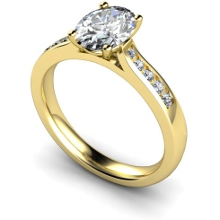 HRXSD654 Oval Shoulder Diamond Ring - yellow