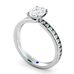 HRXSD656 Oval Shoulder Diamond Ring - white