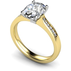 HRXSD671 Oval Shoulder Diamond Ring - yellow