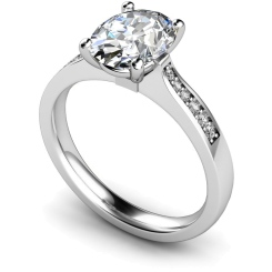 HRXSD671 Oval Shoulder Diamond Ring - white
