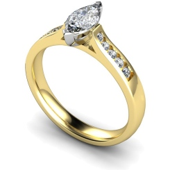 HRXSD674 Marquise Shoulder Diamond Ring - yellow
