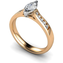 HRXSD674 Marquise Shoulder Diamond Ring - rose