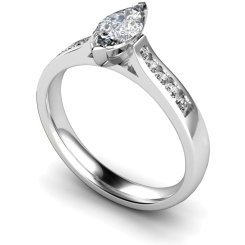 HRXSD674 Marquise Shoulder Diamond Ring - white