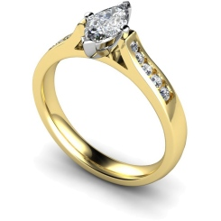 HRXSD675 Marquise Shoulder Diamond Ring - yellow