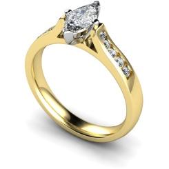 HRXSD675 Marquise Shoulder Diamond Ring - yellow