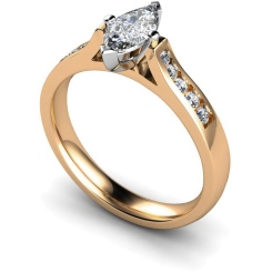 HRXSD675 Marquise Shoulder Diamond Ring - rose