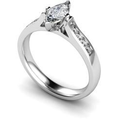 HRXSD675 Marquise Shoulder Diamond Ring - white