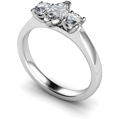 HRXTR174 Marquise & Round 3 Stone Diamond Ring - white