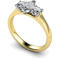 HRXTR186 Marquise & Round 3 Stone Diamond Ring - yellow
