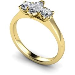 HRXTR186 Marquise & Round 3 Stone Diamond Ring - yellow
