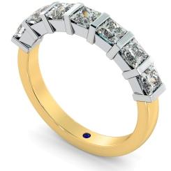 LYNX 7 Stone Princess cut Diamond Ring - yellow