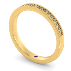 PAVO Round cut Vintage Half Eternity Band - yellow