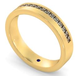SAGITTA Offset Princess cut Half Diamond Eternity Band - yellow