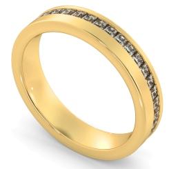 TUCANA Offset Princess cut Full Diamond Eternity Band - yellow