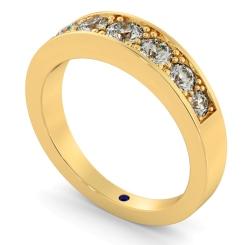 VEGA Graduating 7 stone Round cut Diamond Eternity Ring - yellow