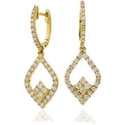 HER232 Delicate Designer Drop Earrings - yellow