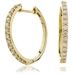 HER153 Round cut Diamond Earrings - yellow