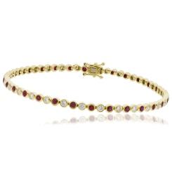 HBRGRY046 Ruby & Diamond Single Line Bracelet - yellow