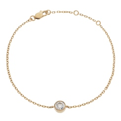 HBRDR041 Brilliant Diamond Bezel Delicate Bracelet - rose
