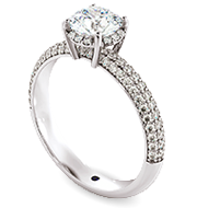 Shoulder Diamond Ring