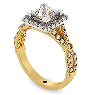Princess cut Halo Diamond Ring