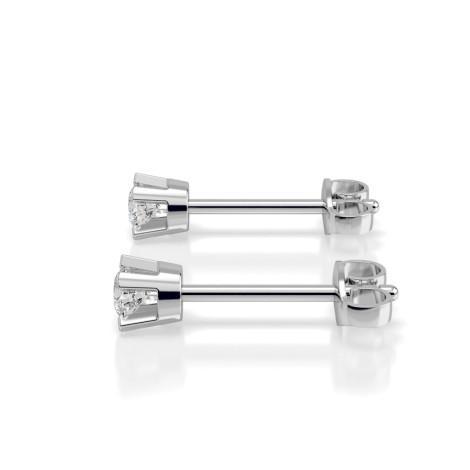 0.10ct Round cut Stud Diamond Earrings - Premium Quality Diamonds - HER57 - 360 animation