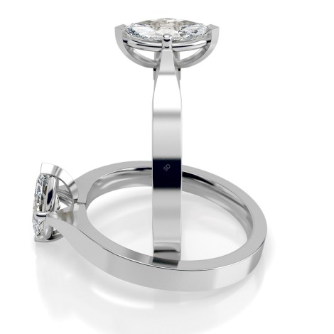 Marquise Solitaire Diamond Ring - HRM549 - 360 animation