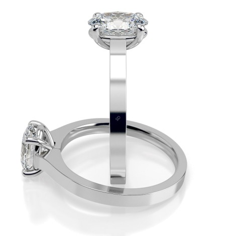 Oval Solitaire Diamond Ring - HRO429 - 360 animation