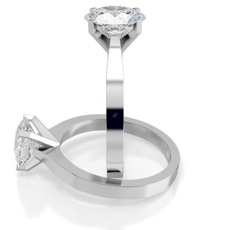 Oval Solitaire Diamond Ring - HRO598 - 360 animation