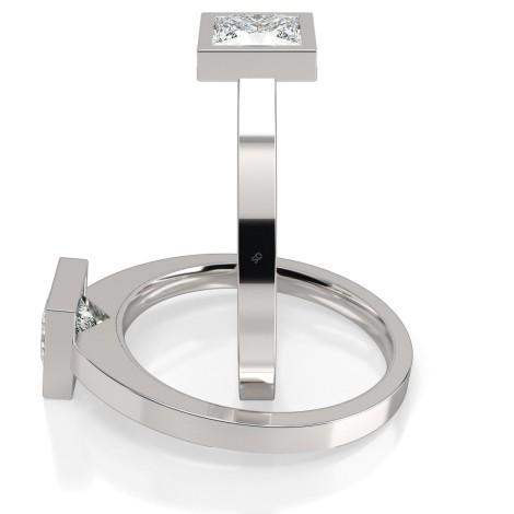 Princess Solitaire Diamond Ring - HRP276 - 360 animation