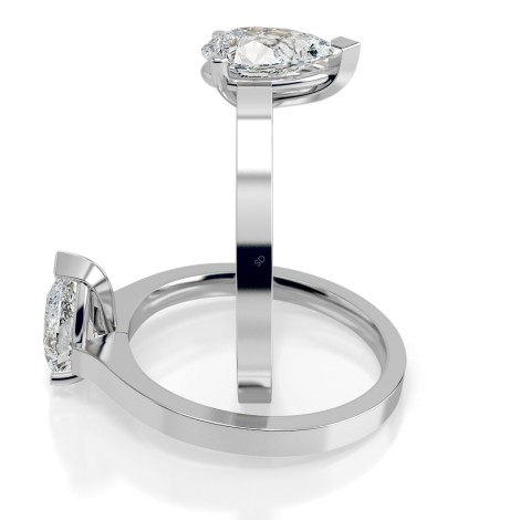 Pear Solitaire Diamond Ring - HRPE464 - 360 animation
