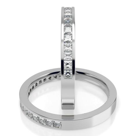 Princess Half Eternity Diamond Ring - HRPHE232 - 360 animation