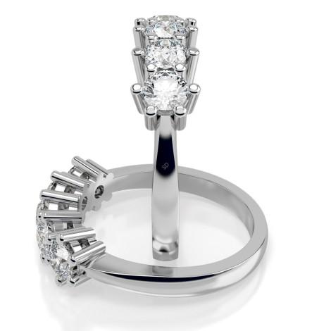 Round 5 Stone Diamond Ring - HRRTR209 - 360 animation