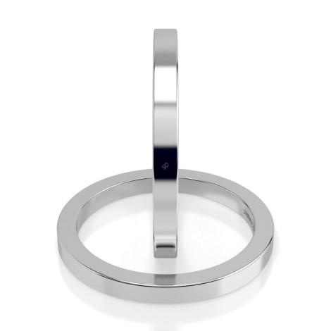 Flat Wedding Ring - 2mm width, Medium depth - HWNA217 - 360 animation