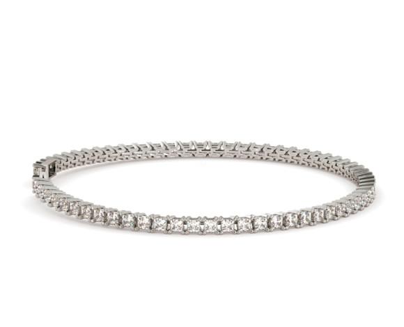 Princess cut SANIA Diamond Tennis Bracelet - HBP006 - 360 animation