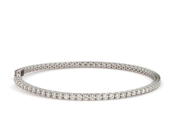SERENA Round cut Classic 4 Prong Diamond Tennis Bracelet - HBR001 - 360 animation