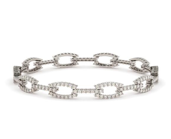 JOHANNA O'Linked Designer Diamond Bracelet - HBR009 - 360 animation