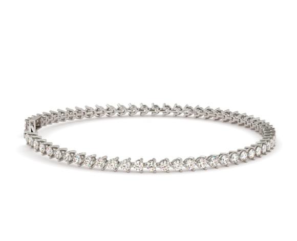 ANGELIQUE Round cut 3 Point Tennis Diamond Bracelet - HBR013 - 360 animation