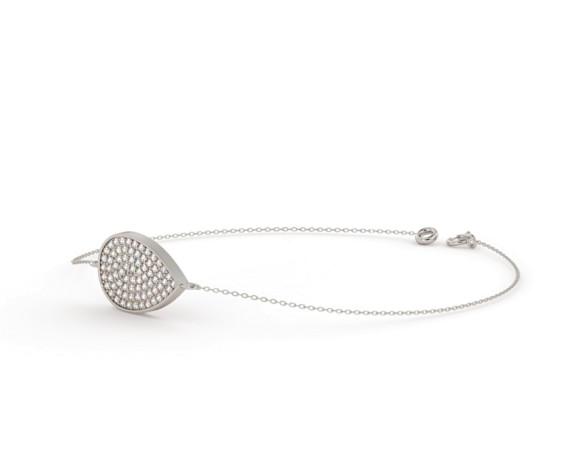 Tear Drop Designer Diamond Bracelet - HBRDR020 - 360 animation