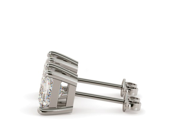 Princess Stud Diamond Earrings - HEP30 - 360 animation