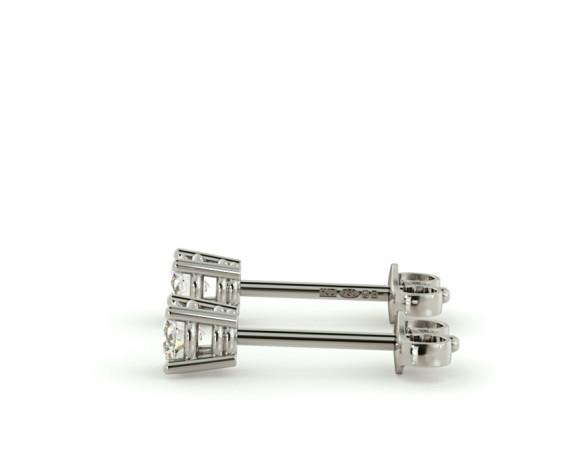 0.20ct Round cut Stud Diamond Earrings - HER94 - 360 animation