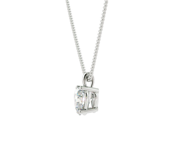 Heart Solitaire Diamond Pendant - HPH7 - 360 animation