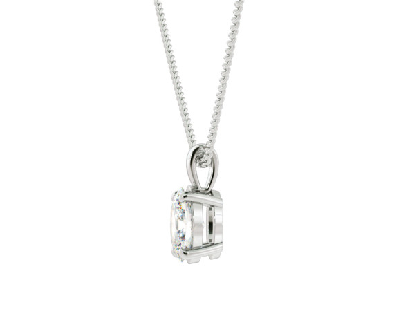 Oval Solitaire Pendant - HPO53 - 360 animation