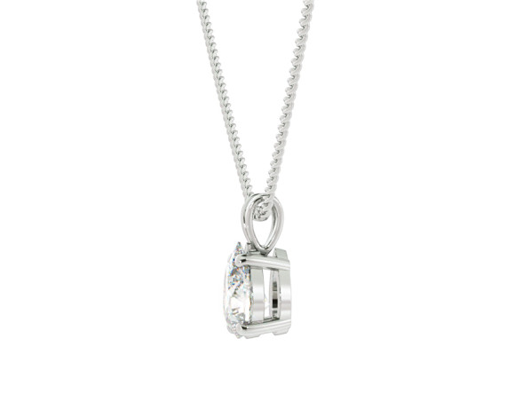 Pear Solitaire Pendant - HPPE50 - 360 animation