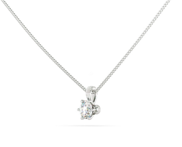 Round Solitaire Pendant - HPR40 - 360 animation