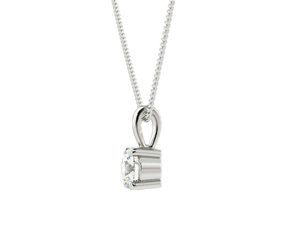 Round Solitaire Pendant - HPR42 - 360 animation
