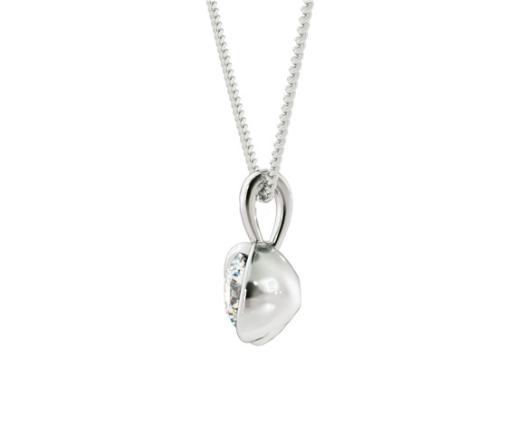 Round Solitaire Pendant - HPR59 - 360 animation